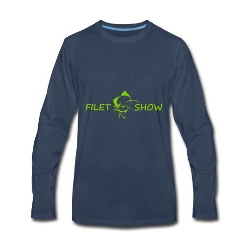 Green_logo_for_shirts - Men's Premium Long Sleeve T-Shirt