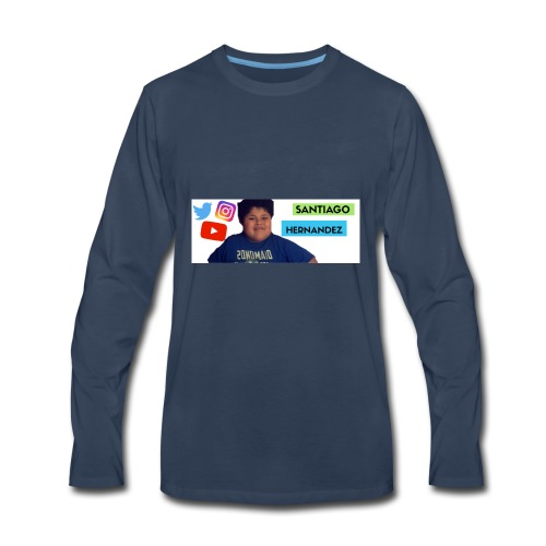 Santiago social media - Men's Premium Long Sleeve T-Shirt