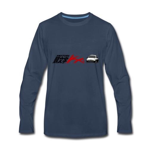 Initial Ka (Black writing) - Initial D parody - Men's Premium Long Sleeve T-Shirt
