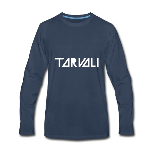 Tarvali White Logo - Men's Premium Long Sleeve T-Shirt