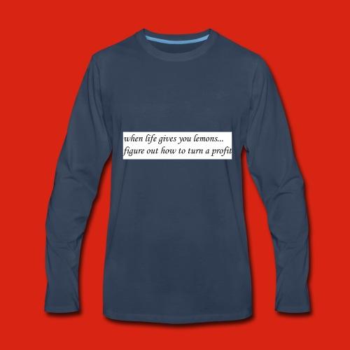 when life gives business man lemons - Men's Premium Long Sleeve T-Shirt