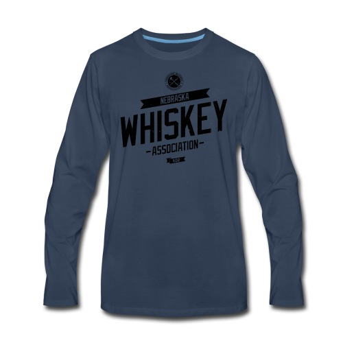 Tilted Whiskey distressed - Men's Premium Long Sleeve T-Shirt