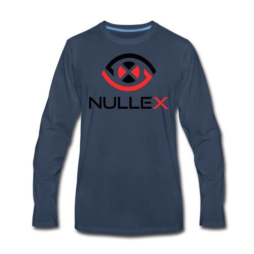 NulleX Logo with Words - Men's Premium Long Sleeve T-Shirt