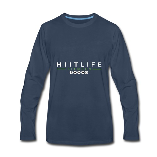 hlfsocialwht - Men's Premium Long Sleeve T-Shirt