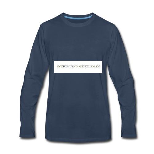 Intriguing Gentleman Tee - Men's Premium Long Sleeve T-Shirt