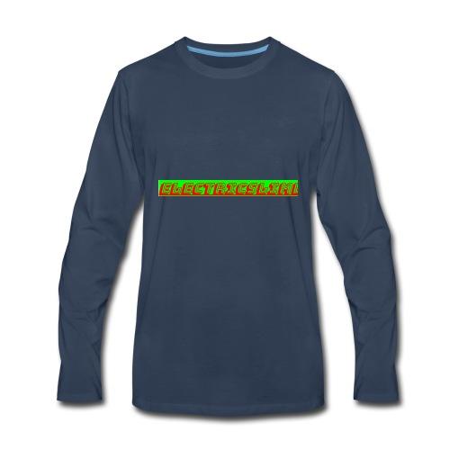 ElectricSlime Text - Men's Premium Long Sleeve T-Shirt