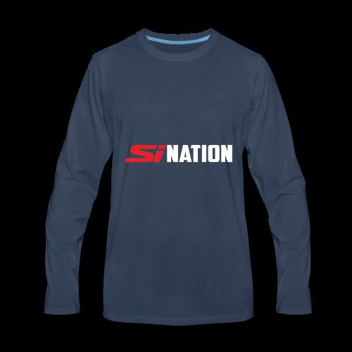SiNation White - Men's Premium Long Sleeve T-Shirt