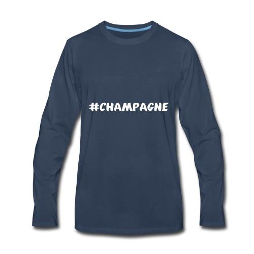 Champagne Hashtag - Men's Premium Long Sleeve T-Shirt