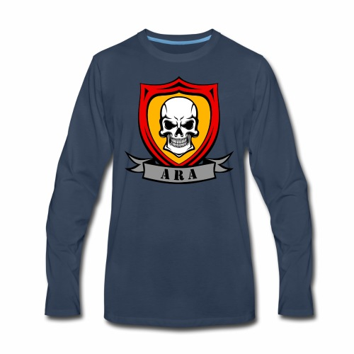 ARA Skull Logo - Men's Premium Long Sleeve T-Shirt