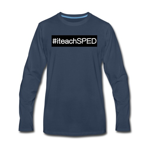 iteachspedbig - Men's Premium Long Sleeve T-Shirt