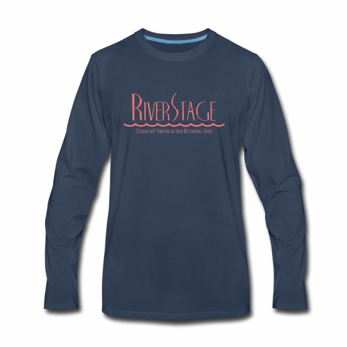 RiverStage Color Logo in Faded Red - Men's Premium Long Sleeve T-Shirt