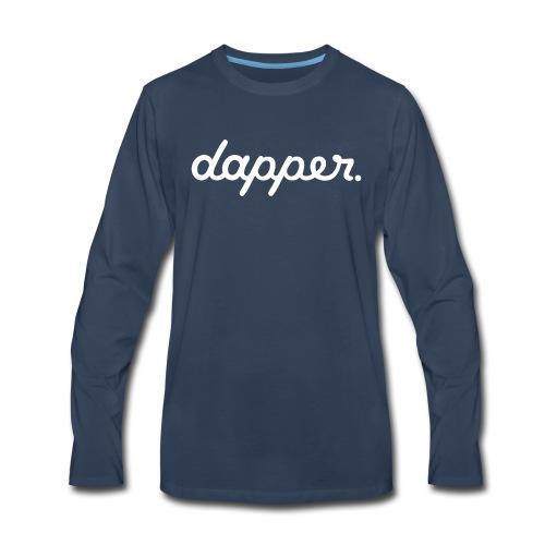 DAPPER Black Shirt - Men's Premium Long Sleeve T-Shirt
