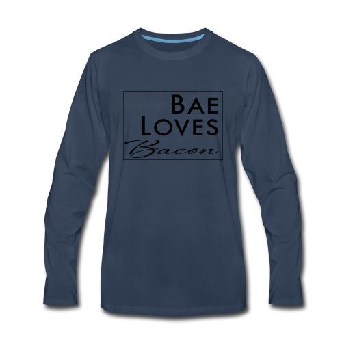 Bae Loves Bacon - Men's Premium Long Sleeve T-Shirt