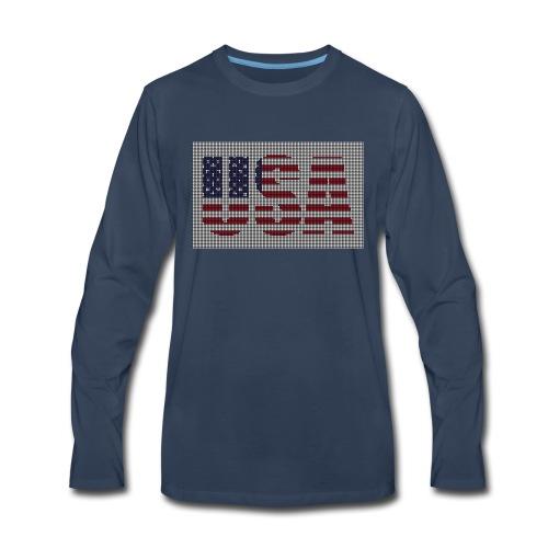 USA - Men's Premium Long Sleeve T-Shirt