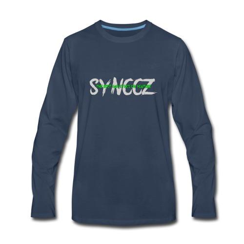 Scratchy Text - Men's Premium Long Sleeve T-Shirt