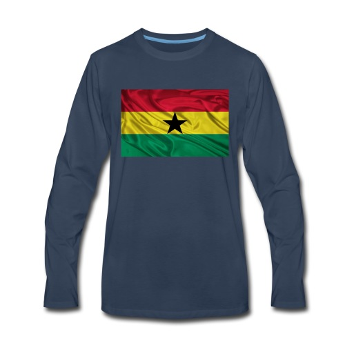 Ghana-Flag - Men's Premium Long Sleeve T-Shirt