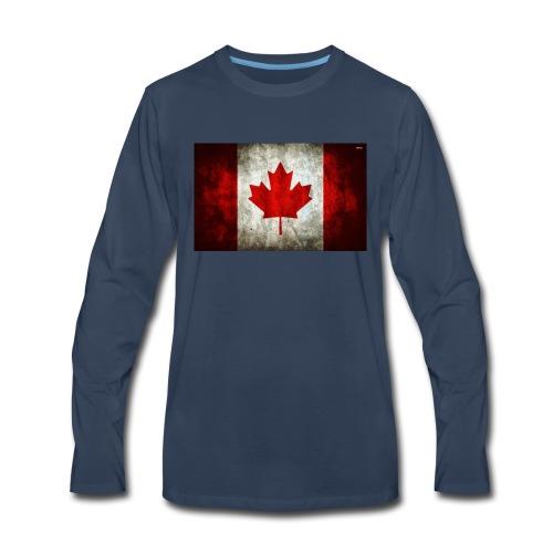 canada flag grunge - Men's Premium Long Sleeve T-Shirt