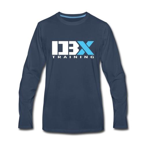 DB X Training logo white - Men's Premium Long Sleeve T-Shirt