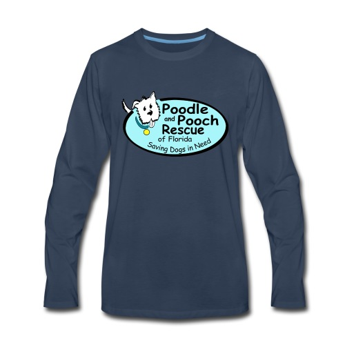 Poodle and Pooch Logo - Men's Premium Long Sleeve T-Shirt