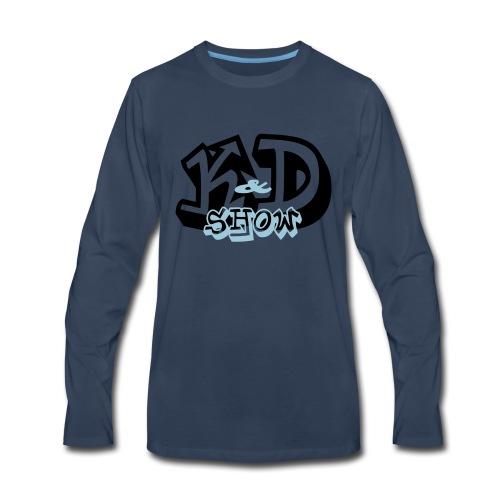 K&D Logo Black on Light Blue - Men's Premium Long Sleeve T-Shirt