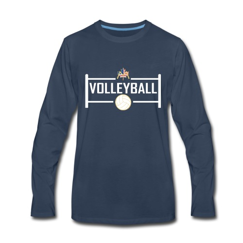 Block City Volleyball Design - Men's Premium Long Sleeve T-Shirt