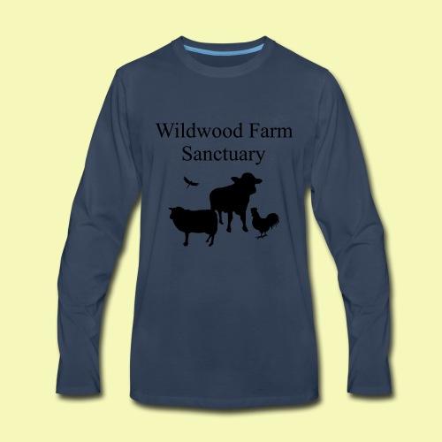 A2 black text2path - Men's Premium Long Sleeve T-Shirt