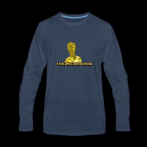 Limited Edition Gold Micah Show Logo - Men's Premium Long Sleeve T-Shirt