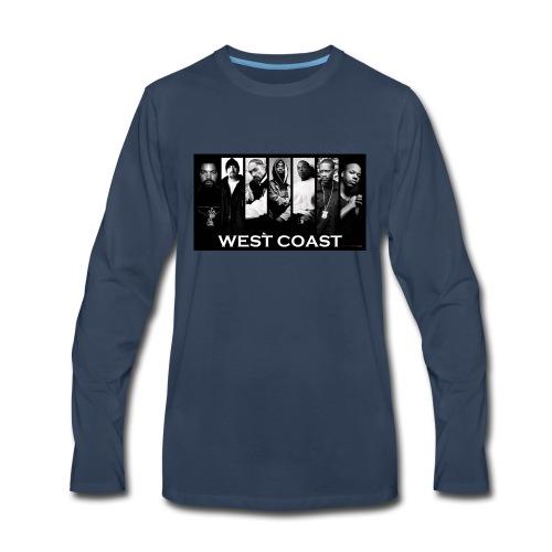 West Coast Rappers Design - Men's Premium Long Sleeve T-Shirt