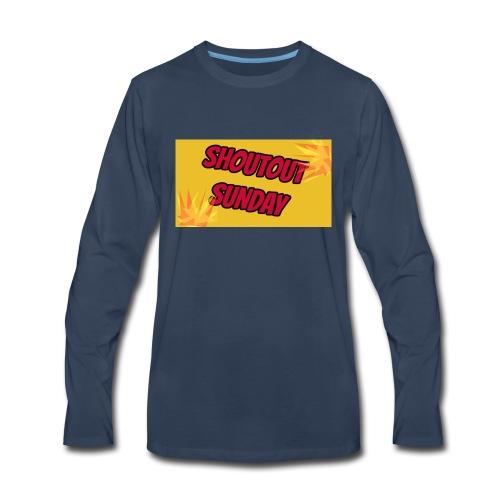 SHOUTOUT Sunday Merch - Men's Premium Long Sleeve T-Shirt