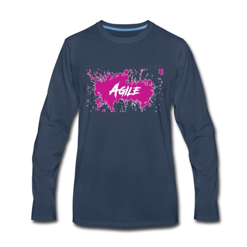 AgileNation Splatter Design - Men's Premium Long Sleeve T-Shirt