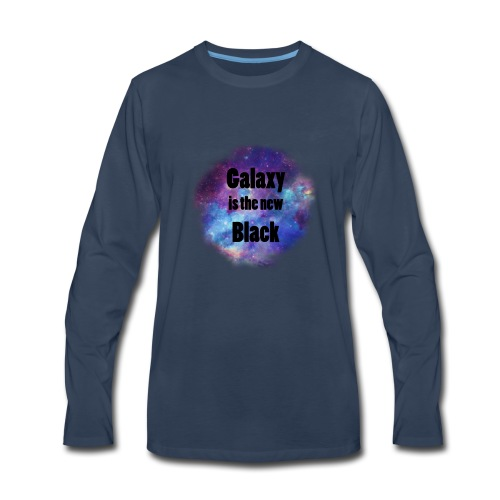 Galaxy is the new Black - Men's Premium Long Sleeve T-Shirt
