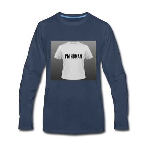 i m human - Men's Premium Long Sleeve T-Shirt