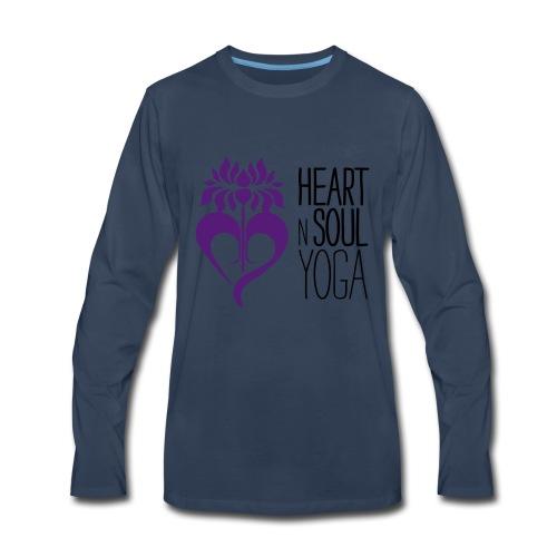 HeartNSoulYoga Logo Stacked - Men's Premium Long Sleeve T-Shirt