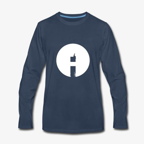 Moon meditation - Men's Premium Long Sleeve T-Shirt