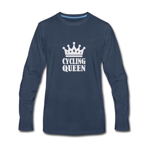 The Queen Crown Logo Funny - Men's Premium Long Sleeve T-Shirt