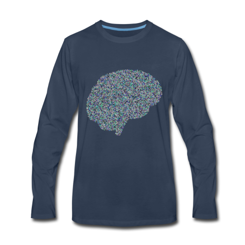 brain scramble - Men's Premium Long Sleeve T-Shirt