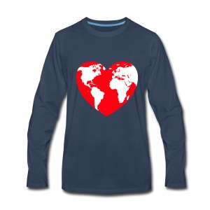 HEART LOVE PLANET MOTHER EARTH - Men's Premium Long Sleeve T-Shirt