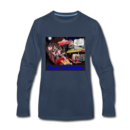 Themeparkstudios on lightning rod and lr pin - Men's Premium Long Sleeve T-Shirt