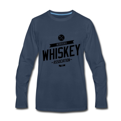 Whisky tilt solid fill color editable - Men's Premium Long Sleeve T-Shirt