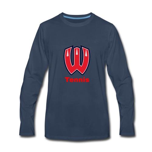 Westview High School Tennis (Red Lettering) - Men's Premium Long Sleeve T-Shirt