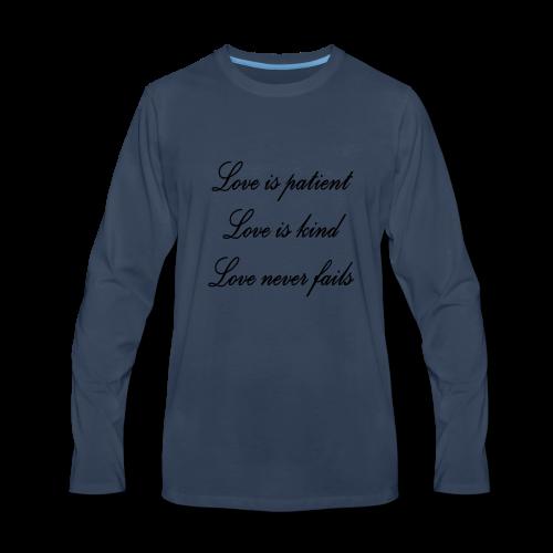Patient love - Men's Premium Long Sleeve T-Shirt