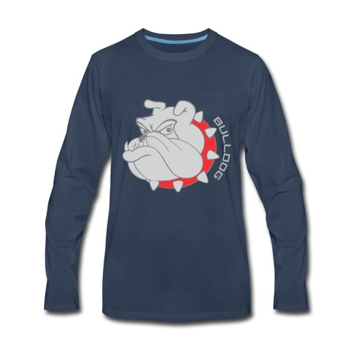 Bulldog logo - Men's Premium Long Sleeve T-Shirt