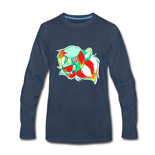 Psychedelic Lion - Men's Premium Long Sleeve T-Shirt