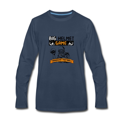 BIG HELMET GAME AMERICAN FOOTBALL NFL - Men's Premium Long Sleeve T-Shirt