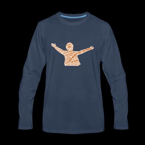 Hugh Mungus Wordcloud - Men's Premium Long Sleeve T-Shirt
