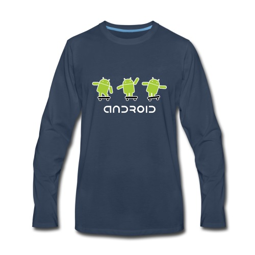 android logo T shirt - Men's Premium Long Sleeve T-Shirt