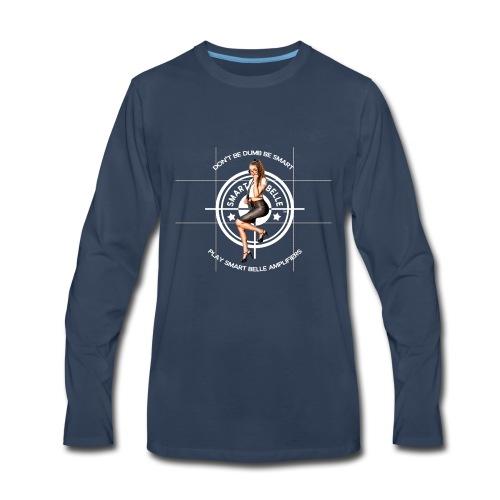 Smart Belle White Logo - Men's Premium Long Sleeve T-Shirt