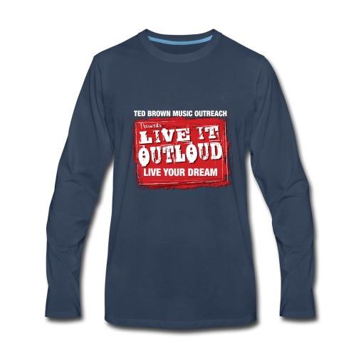 Live It OutLoud Logo - Men's Premium Long Sleeve T-Shirt