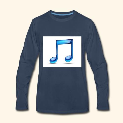music note icon - Men's Premium Long Sleeve T-Shirt