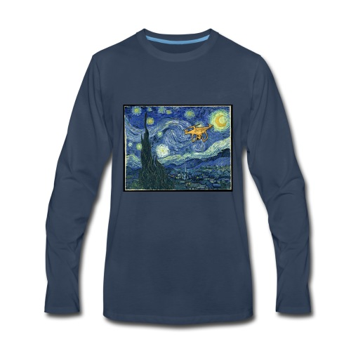 Starry Night Drone - Men's Premium Long Sleeve T-Shirt